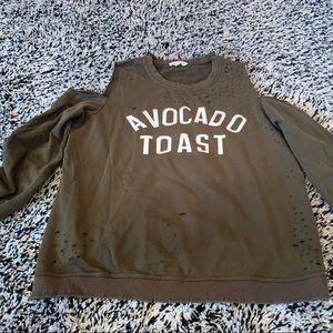 Honey Punch Avocado Toast coldshoulder sweatshirt